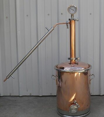 "8 Gallon Copper Moonshine Still with 2"" Copper & Stainless Whisky Column"