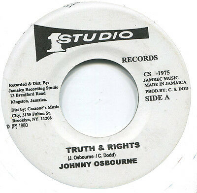 """Johnny Osbourne - Truths And Rights (Studio 1) """"truth & Rights"""" 1968"""