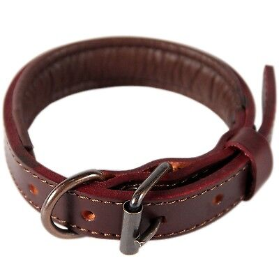 Logical Leather Padded Dog Collar - NEW Full Grain Heavy Duty Leather Collars