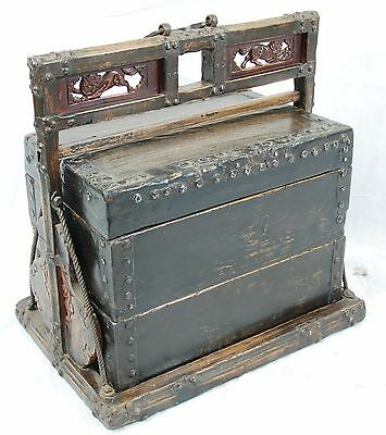 19th antike chinesische Truhe Kieste Ancient antique Chinese chest box vintage