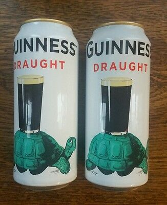 (2) Limited Edition Guinness TURTLE Draught Aluminum Beer Cans