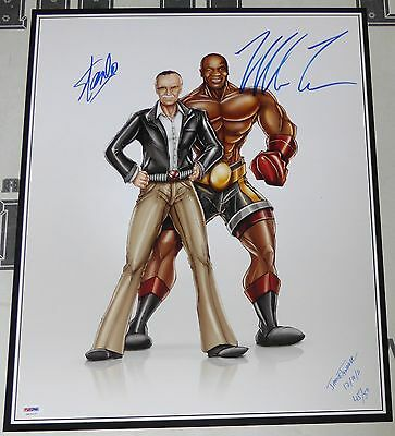 Mike Tyson & Stan Lee Signed 16x20 Photo PSA/DNA COA Limited Edition Auto'd #/50