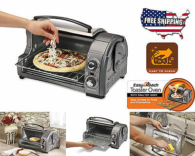Countertop Toaster Pizza Oven Bake Broil Food Convection Top Door Access Stove