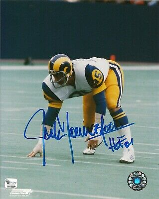 Jack Youngblood Signed Rams Football 8x10 Photo GAI DNA COA Picture  Autograph 85 1bde703b1