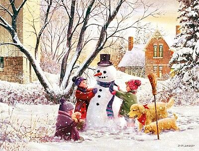 """LANG Boxed Christmas Cards """"FROSTY"""" Artwork By D. R. Laird"""