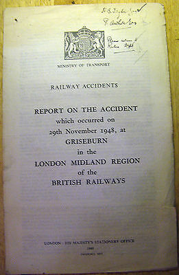 Railway Accident Report, Griseburn 1948
