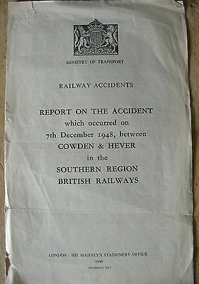 Railway Accident Report, Cowden & Hever 1948, Marsh I3 class loco 2028, ex LBSCR