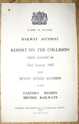 Railway Accident Report, Seven Kings Station 1963