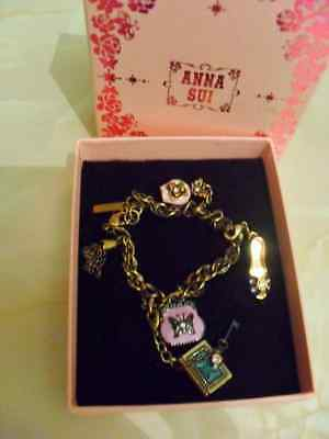 ANNA SUI Charm Bracelet - new in box - Rare piece