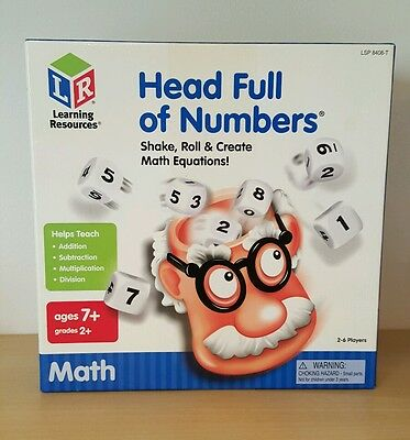 Head full of Numbers Math Game – Learning Resources 7yrs+/2nd Grade 2-6 players