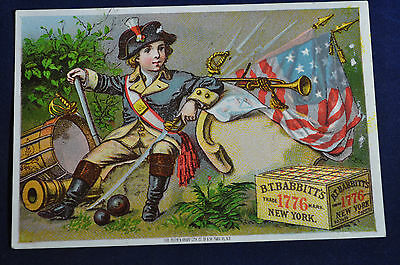 Patriotic BT Babbitts Baby Soap Card NEAR MINT