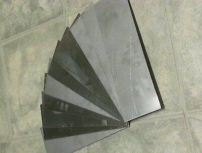 "stainless steel 18 gage 12"" x 4""+-  plate, metal sheet has defects bent edge"
