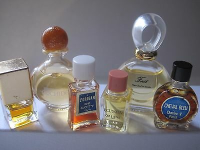 Vintage Perfume Lot Coty L'origan, Ecusson Orlane,First Van Cleef,Orchidee, more