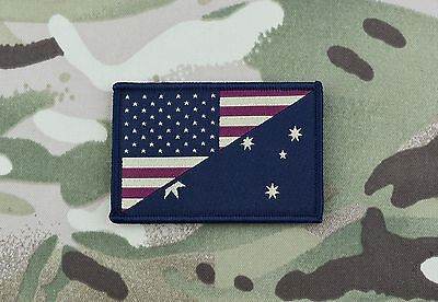 Subdued US/Australia Stars & Stripes/Australia Flag Morale Patch ADF SOTG
