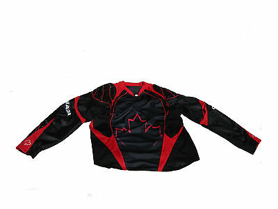 Paintball Canada Padded Paintball Jersey  Red Medium