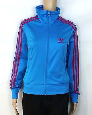 Adidas Originals Trefoil Vtg Ladies Blue Firebird Tracksuit Jacket Size S Sw123