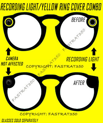 Yellow Ring Delete Kit for Snapchat Spectacles & Recording light Cover