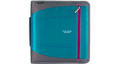 "Five Star Xpanz 2"" Zipper Binder Teal 530 Sheet Capacity Removable File Folders"