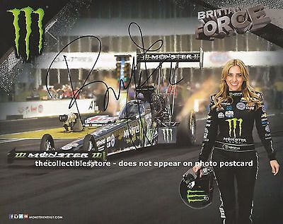 Brittany Force Autographed Monster Energy Racing Nhra Dragster Photo Postcard