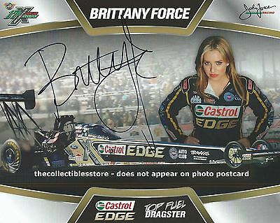 Brittany Force Autographed Castrol Edge Racing Nhra Dragster Photo Postcard