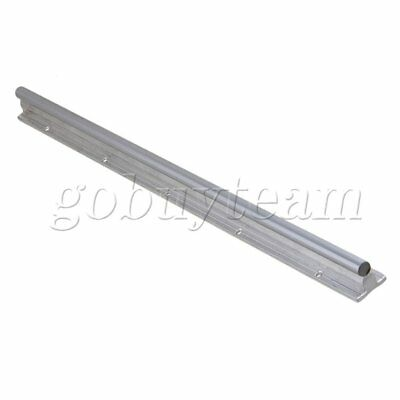 Silver Aluminum & Steel SBR12 Linear Bearing Rail L500mm for CNC Machine