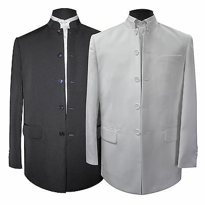 New Ambassador Plain Chinese Mandarin Collar Suit & Trousers