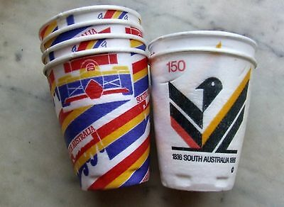 Assorted Commemorative FOAM CUPS, 1986 South Australia 150 Years Celebrations.