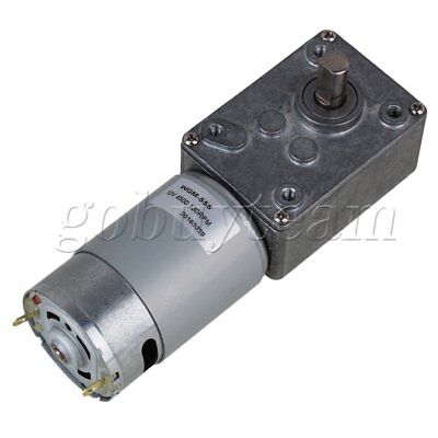 12V 130RPM Electric Worm Geared DC Motor with Gear Box High Torque