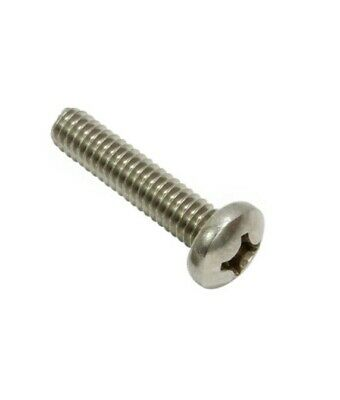 "Machine Screws Pan Head 4-40 x 1/2"" Phillips Drive Stainless Steel Qty 100"