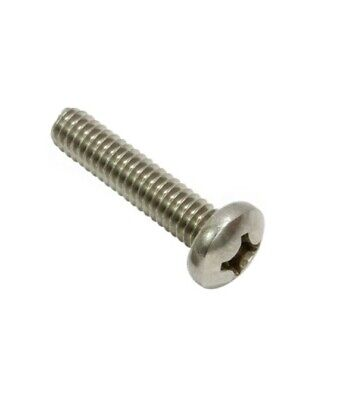 "Machine Screws Pan Head Phillips Drive Stainless Steel 6-32 x 1"" Qty 100"