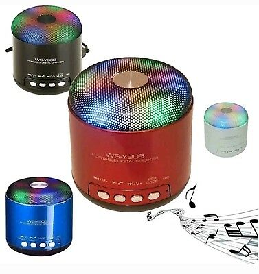 Speaker Cassa Bluetooth Mp3 Vivavoce Led Micro Sd Usb Altoparlante Fm Ws-Y90B