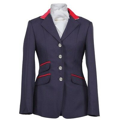 SHIRES HENLEY COMPETITION JACKET LADIES NAVY women smart horse riding wear