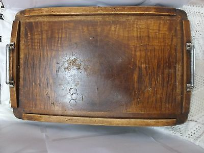 ~ Vintage/Antique Hostess Wooden Tray. Home Decor