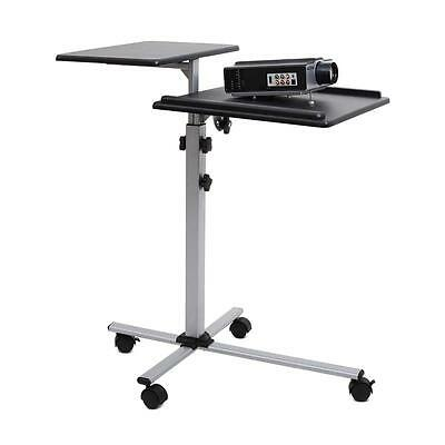 Slim Hifi Projector Table Running Wheel Casters Adjustable Height Tilting Stand