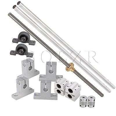 15x 2mm Lead Rod 30cm Optical Axis Rail Slide Shaft Supports Coupler Horizontal