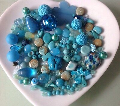 Turquoise Beads  Mixed Bead Collection * Job Lot * 222 grams