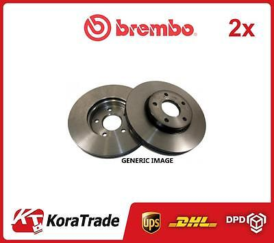 2x 09A60610 BREMBO FRONT OE QUALITY BRAKE DISC SET