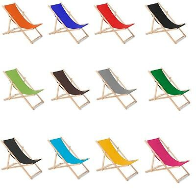 Green Blue Wood Sunbed Deck Chair beech, Resistence up to 110kg 85cm /85cm /55cm