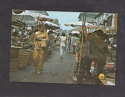 Posted 1988 View of the Market Queen Street, Singapore