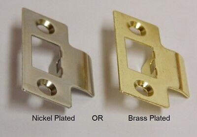 Strike Plates Nickel Or Brass Plated For Door Latches