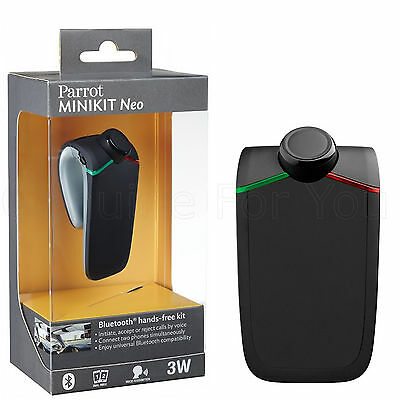 New Genuine Parrot MINIKIT Neo Voice Controlled HD In-Car Bluetooth Hadsfree Kit