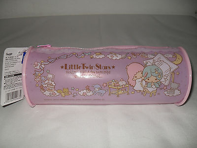 New 2013 Sanrio LITTLE TWIN STARS Cylinder Plastic Cosmetic/Pencil Bag