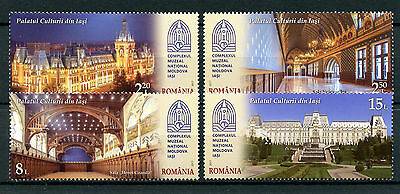 Romania 2017 MNH Palace of Culture Iasi 4v Set Architecture Palaces Stamps
