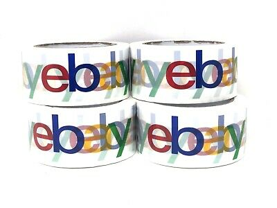 2 Rolls X 75 Yard eBay Branded BOPP Packaging Tape Box Packing Shipping Supplies