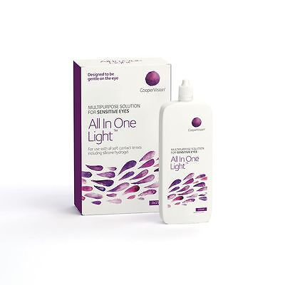 All In One Light For Sensitive Dry Eyes 3 X 250ml Solution Clean Desinfect Rinse