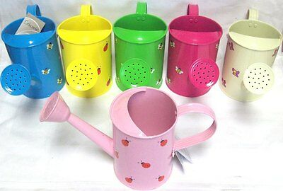 Children's Small Tin Garden Watering Can With Rose Assorted Colours & Print
