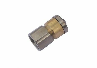 """Pressure Washer Drain Cleaning Rotary Nozzle 1/4""""F B.S.P 3 Rear Jets Size 06"""