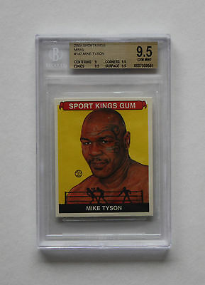 2009 Sport Kings Mini #147 Mike Tyson Beckett Gs 9.5 Gem Mint Pop 2 None Higher