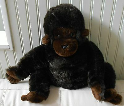 "VINTAGE DAKIN Monkey/Ape/Gorilla Plush Stuffed Animal Brown 1979 21"" LARGE"