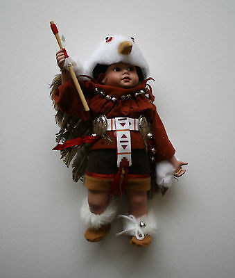 Danbury Mint Porcelain Doll, Little Eagle Dancer, Native American